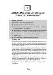 Strategic Financial Management - The Institute of Chartered ...