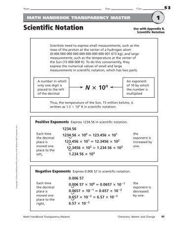 Scientific Notation  Cpo Science