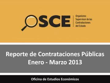 Reporte de Contrataciones Públicas Marzo 2013 - OSCE