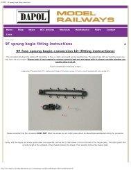 DAPOL - 9F sprung bogie fitting instructions