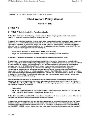 essay on child welfare policy Disparities and disproportionality in child welfare: analysis of the research december 2011 the annie e casey foundation papers from a research symposium.