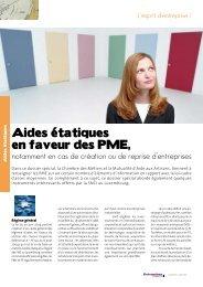 Aides Etatiques - Entreprises magazine