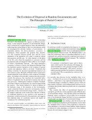 The Evolution of Dispersal in Random Environments ... - Lee Altenberg