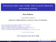 Variational water wave model - Applied Mathematics