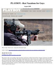 Playboy A-List Best Vacations For Guys - Incredible Adventures