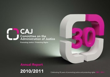 Annual Report 2010 2011 - Committee on the Administration of Justice