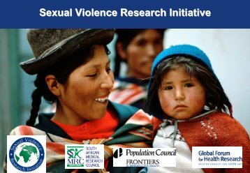 Medical Research Council - Sexual Violence Research Initiative