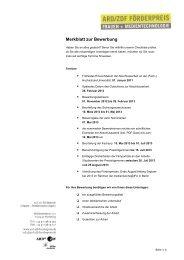 download pdf - ARD/ZDF Förderpreis