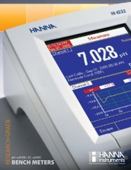 BENCH METERS RESEARCH GRADE - Labequip