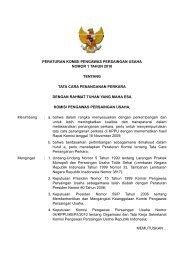 Peraturan Komisi No. 1 tahun 2010 - KPPU
