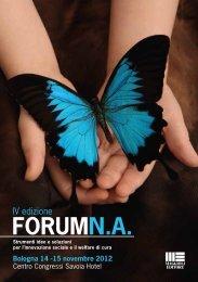 Scarica il programma 2012 - Forum sulla non Autosufficienza