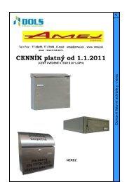 Ceník DLS od 1.1.2011 NEREZ PRODEJ