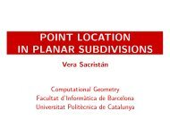 POINT LOCATION IN PLANAR SUBDIVISIONS - UPC