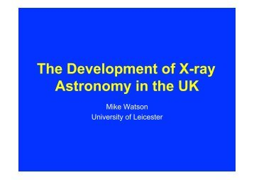 The Development of X-ray Astronomy in the UK