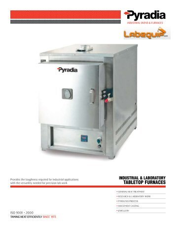 Table top furnace 2300°F (1260°C) - Labequip