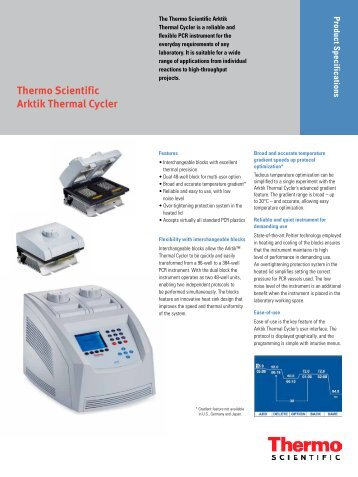 Thermo Scientific Arktik Thermal Cycler - Sapaco 2000