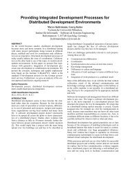 Providing Integrated Development Processes for Distributed ...