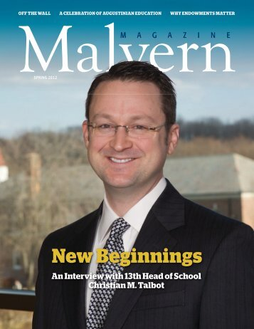 new beginnings - Malvern Preparatory School