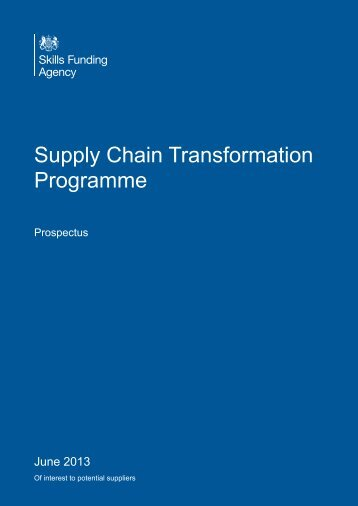 Supply Chain Transformation Programme - Government ...