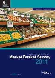 Market Basket Survey - NT Health Digital Library - Northern Territory ...