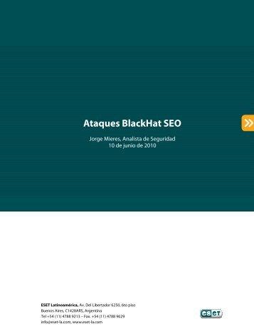 Ataques BlackHat SEO - Eset
