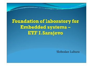 Foundation of laboratory for Embedded systems - ETF I.Sarajevo
