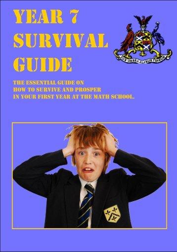 Year 7 Survival Guide - Sir Joseph Williamson's Mathematical School