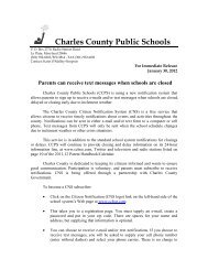 Download - Charles County Public Schools