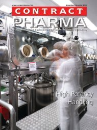 Safety Considerations for High Potency Manufacturing - Sterile ...
