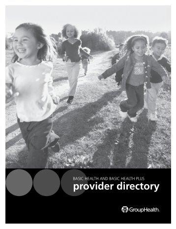 Basic Health and Basic Health Plus Provider Directory - Group Health