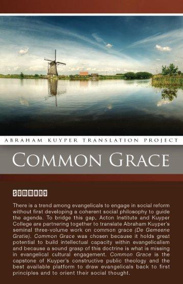 Kuyper Common Grace Brochure - Acton Institute
