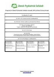 Årsmødeprogram 2007 - Dansk Psykiatrisk Selskab