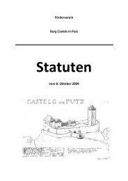 Statuten - Förderverein Burg Castels in Putz