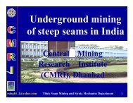 Underground mining of steep seams in India - Office of Fossil Energy