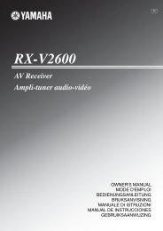 Bedienungsanleitung-YAMAHA-RX-V2600-D - WordPress.com