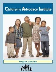 View CAI Program Overview - Children's Advocacy Institute