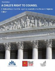 National Report Card on Legal Representation for ... - First Star