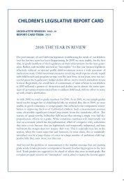 2010 Report Card - Children's Advocacy Institute