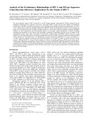 Analysis of the Evolutionary Relationships of HIV-1 and SIVcpz ...