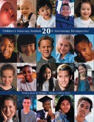 CAI Issues 20th Anniversary Retrospective - Children's Advocacy ...