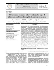 Structured exercise interventions for type 2 diabetes mellitus