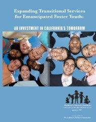 Expanding Transitional Services for Emancipated Foster Youth