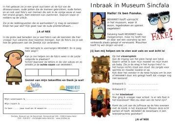 Inbraak in Museum Sincfala - Sincfala - Museum van de Zwinstreek