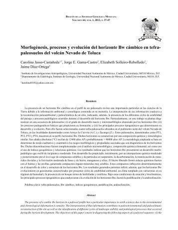Jasso PROOF.pdf - Boletín de la Sociedad Geológica Mexicana