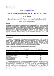 SOLAR ENERGY USING FOR HYDROGEN PRODUCTION
