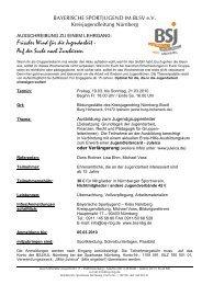 Frischer Wind für die Jugendarbeit - Bayerische Sportjugend BSJ ...