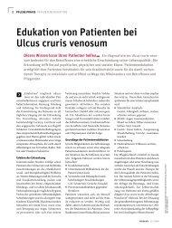 Edukation von Patienten bei Ulcus cruris venosum - Werner Sellmer