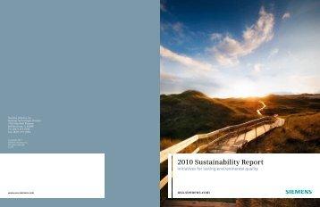 2010 Sustainability Report - Siemens