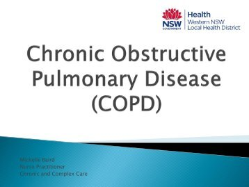 Chronic Obstructive Pulmonary Disease (COPD) - GP NSW
