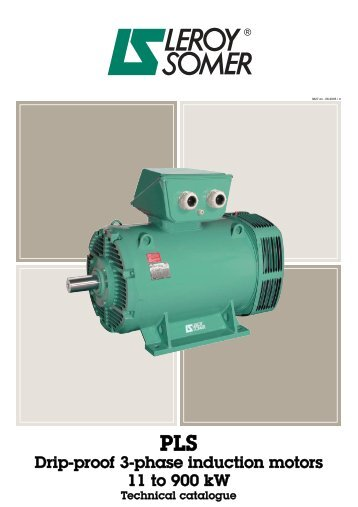 PLS Drip-proof 3-phase induction motors - Etum Elektronik